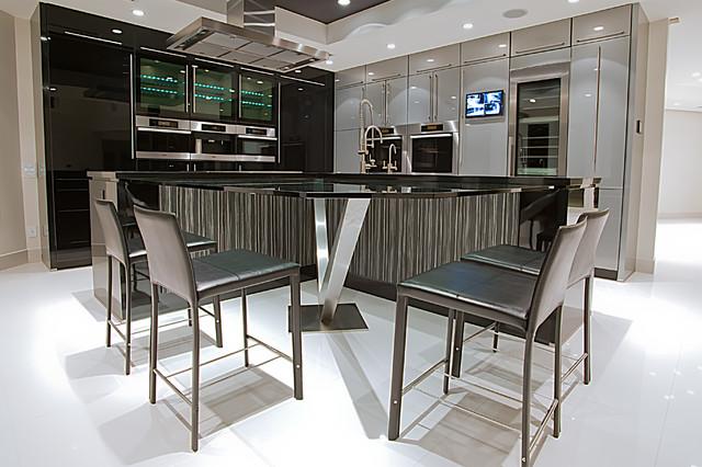 Sleek modern kitchen modern kitchen miami by marble of the world - Sleek kitchen world ...