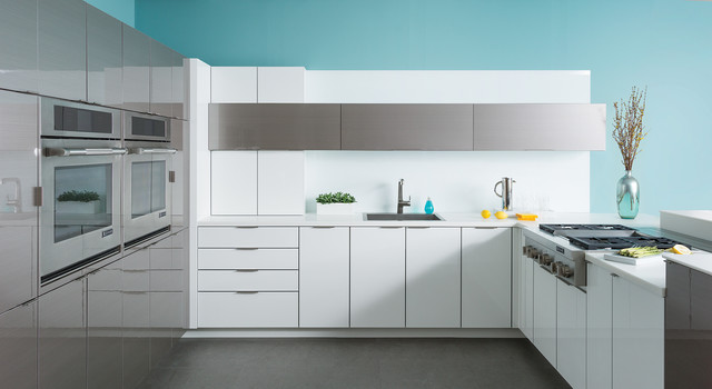 Sleek Stainless Steel Kitchen of the Future from Dura Supreme Cabinetry contemporary-kitchen