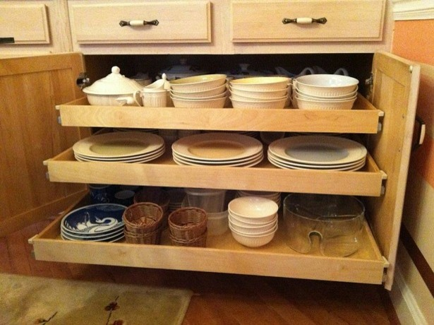 Slide out shelves traditional kitchen columbus by for Traditional kitchen shelves