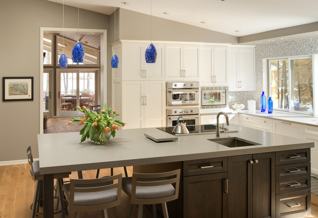 Sloped Ceiling Kitchen Transitional Kitchen Indianapolis By Adam Gibson Design