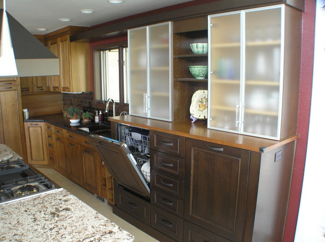 Small and cramped to open and spacious traditional-kitchen