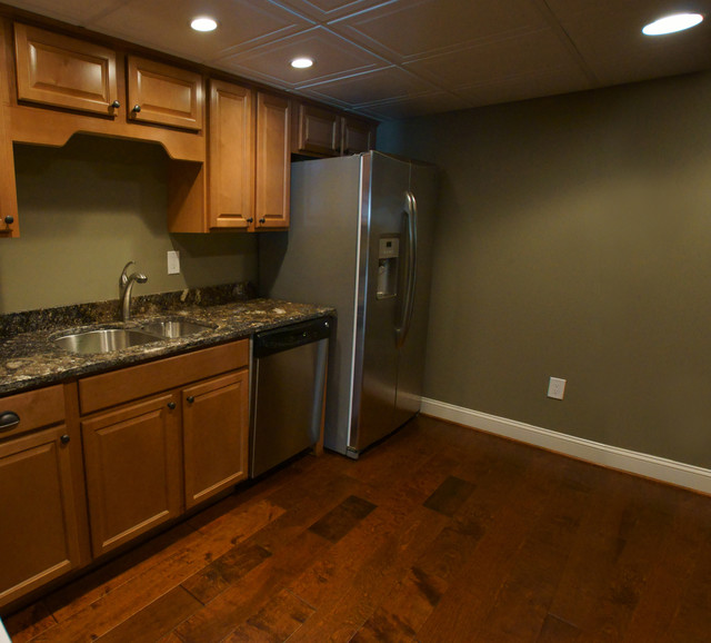small basement kitchen adds convenience traditional kitchen