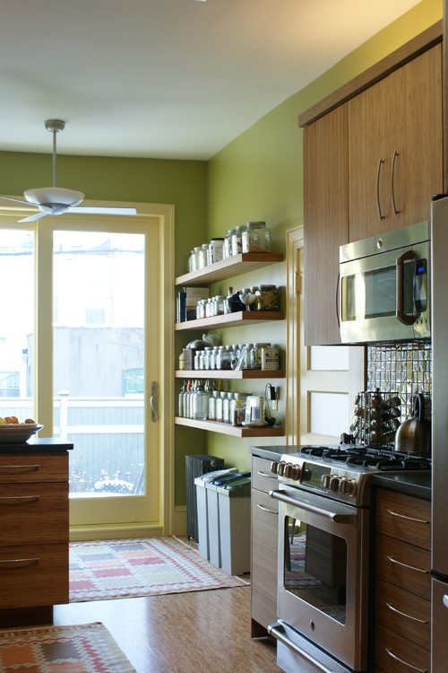 small bright kitchen