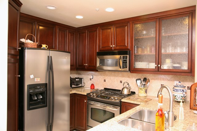 Small Condo Kitchen Transitional Kitchen Other Metro By