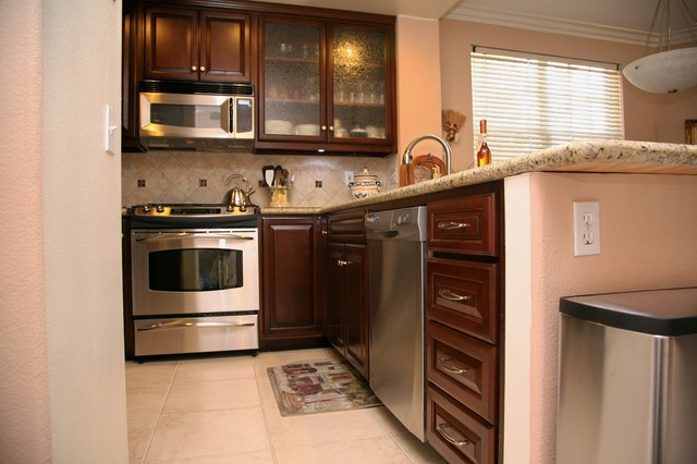 Small Condo Kitchen Transitional Kitchen Other by