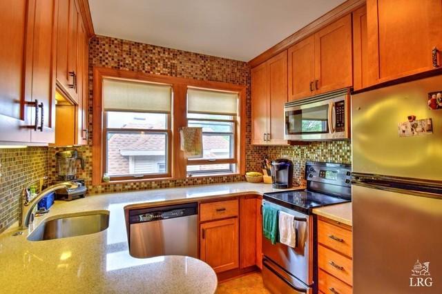 Small Condo Kitchen Remodel Craftsman Kitchen Milwaukee By Elemental Designs