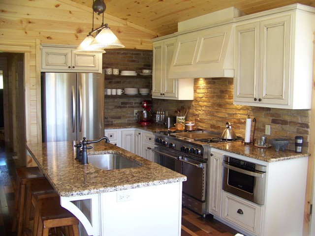 Small Traditional Kitchen small country kitchen - traditional - kitchen - other