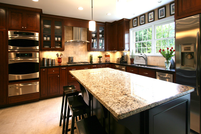 Small Elegant Kitchen Remodels - Contemporary - Kitchen - charlotte - by Walker Woodworking
