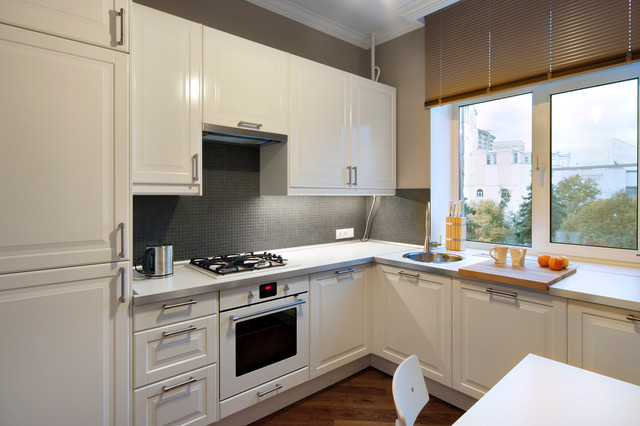 Small Flat Contemporary Kitchen Moscow By Special Style