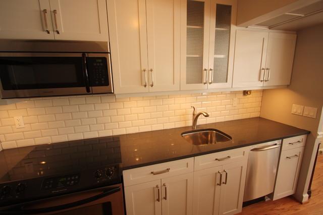 Small Gold Coast Condo Kitchen Remodel Contemporary Kitchen Chicago B