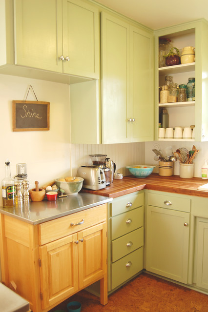 Small kitchen big life eclectic kitchen