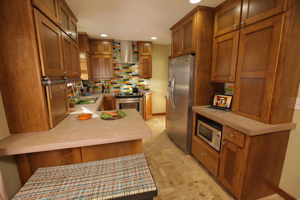 Small Kitchen Gets An Attitude Makeover - Modern - Kitchen ...