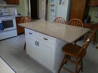 small kitchen island install traditional kitchen