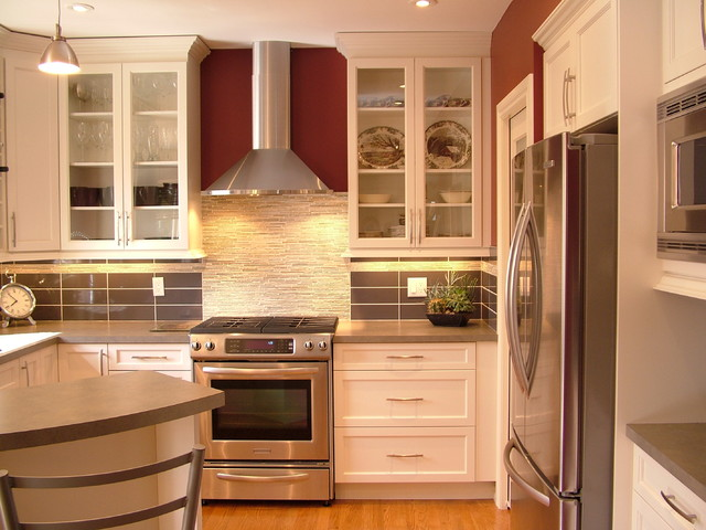 Small kitchen reno - white - Contemporary - Kitchen - Other - by Rochelle Lynne Design
