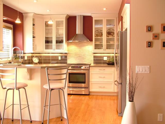 small kitchen reno - white - contemporary