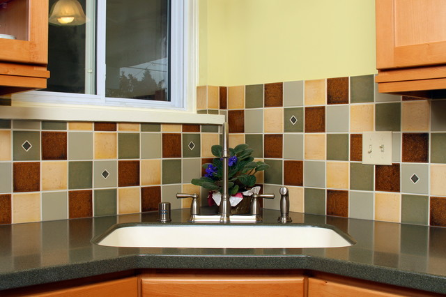 Small Kitchen Transforms to Provide Ample Storage Space traditional-kitchen