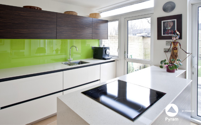 Small open plan surrey house contemporary kitchen surrey by pyram uk Kitchen design companies in surrey