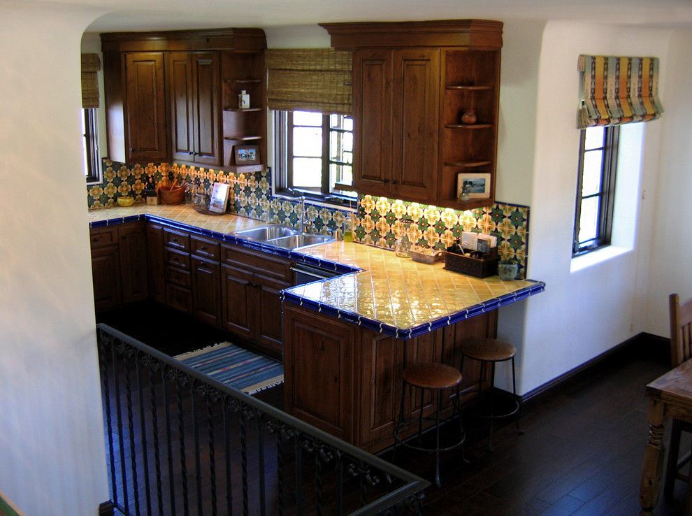Small Spanish Kitchen In Santa Barbara Mediterranean Kitchen Santa Barbara By Santa Barbara Home Design Houzz
