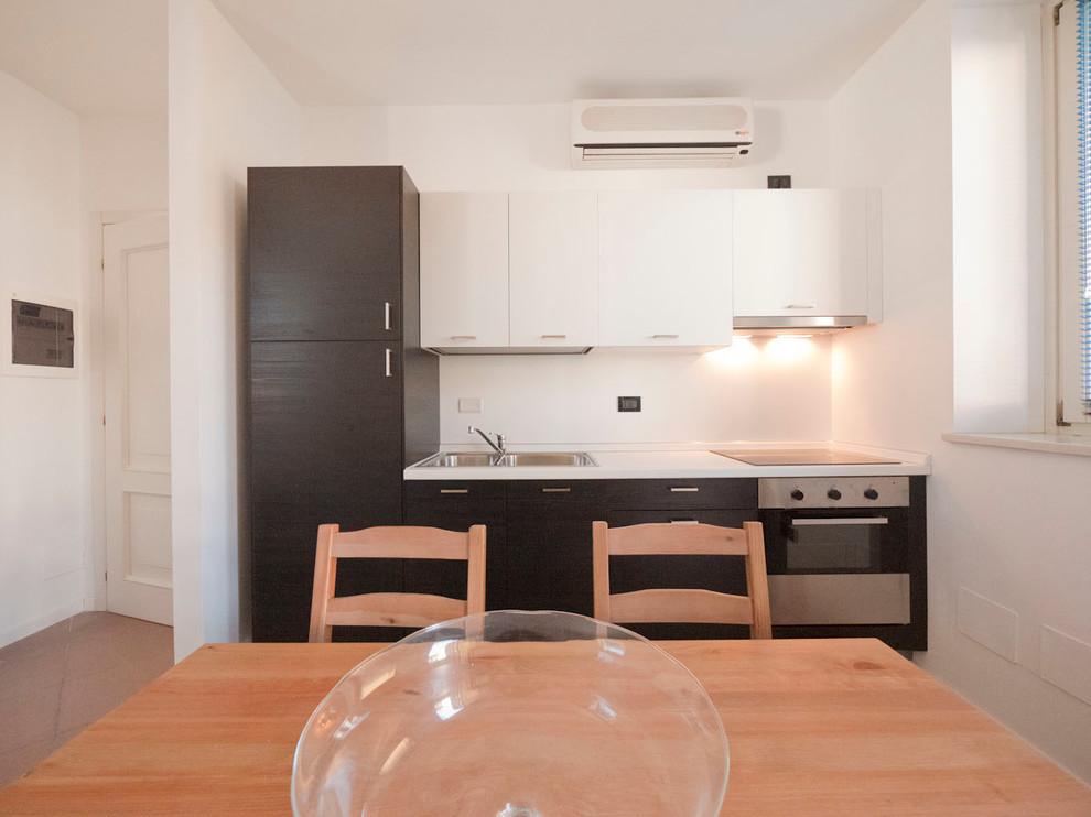Small Studio Apartment Renovation Modern Kitchen Milan By Liadesign Houzz