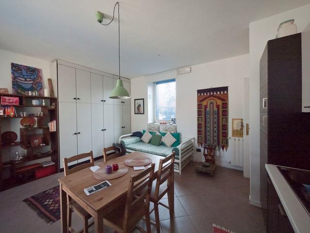 Small Studio Apartment Renovation Eclectic Kitchen