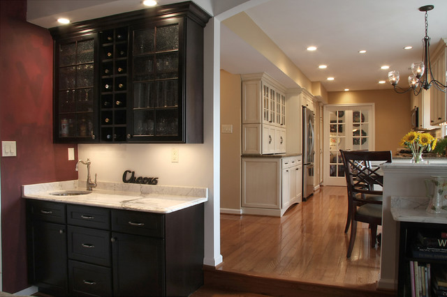 Small Wet Bar Wine Storagetraditional Kitchen Dc Metro