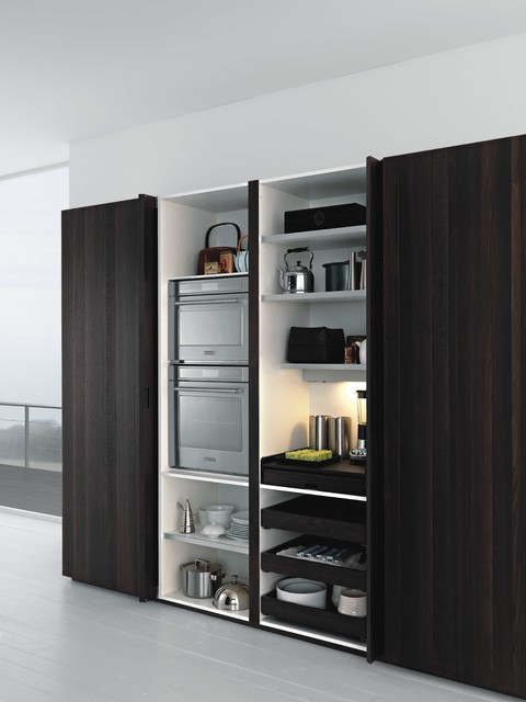 Smart kitchen storage design - contemporary - kitchen cabinets