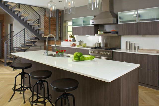 Beau Smoky Pear Cabinets Contemporary Kitchen
