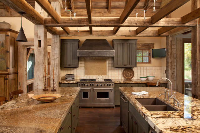 Snake River Guest House Rustic Kitchen Other By