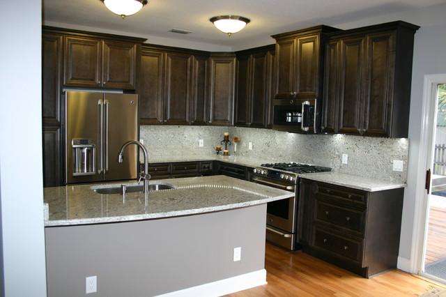 So Tampa Elegant Charcoal Kitchen Traditional Kitchen Tampa