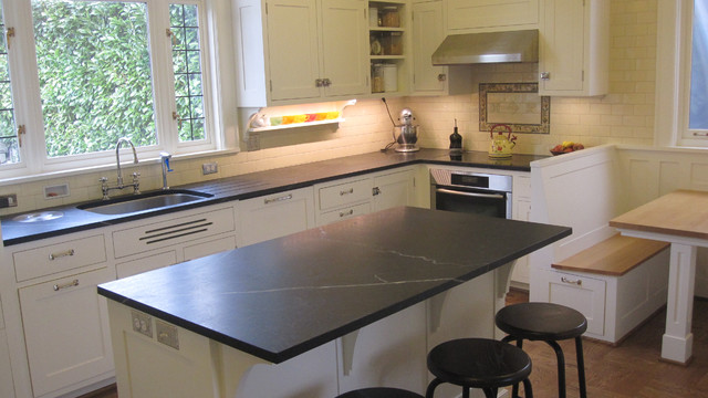 traditional kitchen soapstone counters