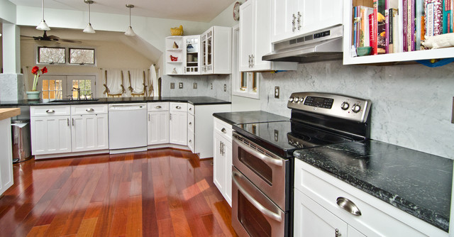 Soapstone Counters with White Carrara Marble Full Backsplash ... on white with soapstone countertops, wood flooring with soapstone countertops, dark cabinets with soapstone countertops, blue soapstone countertops, kitchen with soapstone countertops, sinks with soapstone countertops,