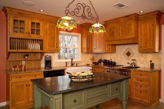 Soapstone island countertop, Granite perimeter countertop - Traditional - Kitchen - New York ...