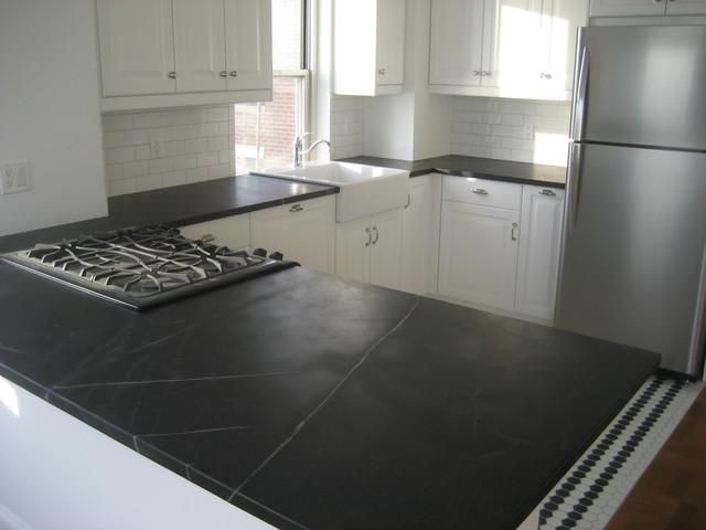 Soapstone Tile Countertops : Soapstone kitchen countertop in downtown manhattan