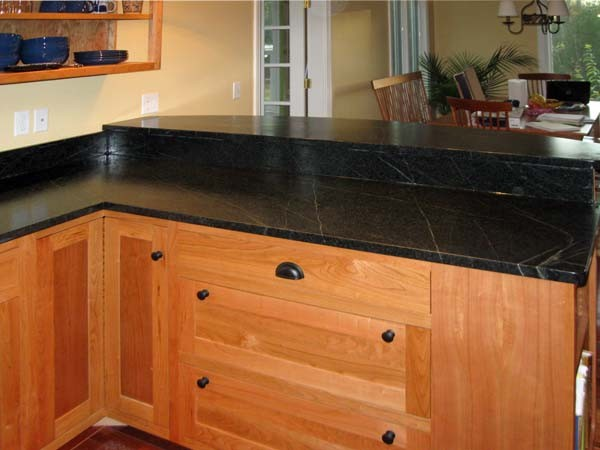 Soapstone Kitchen Countertops - Traditional - Kitchen - portland maine ...