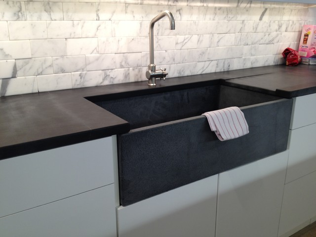 Soapstone Kitchen Sink And Countertop Chelsea Contemporary Kitchen New York By M