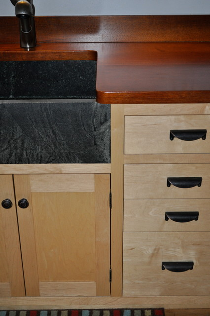 Soapstone sinks. traditional-kitchen