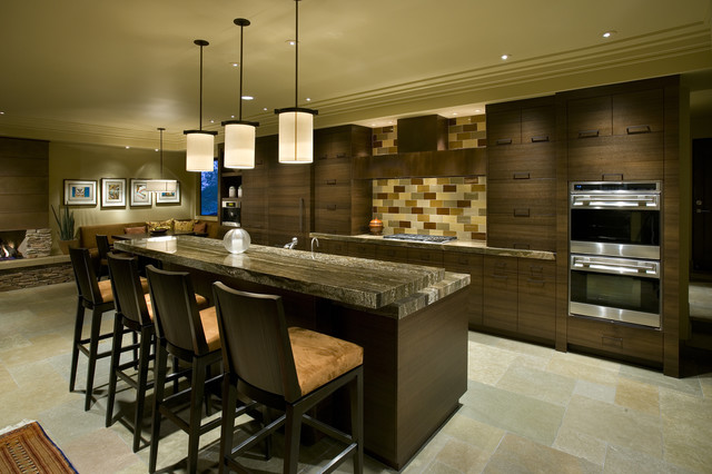Soft contemporary kitchen for Modern kitchen images