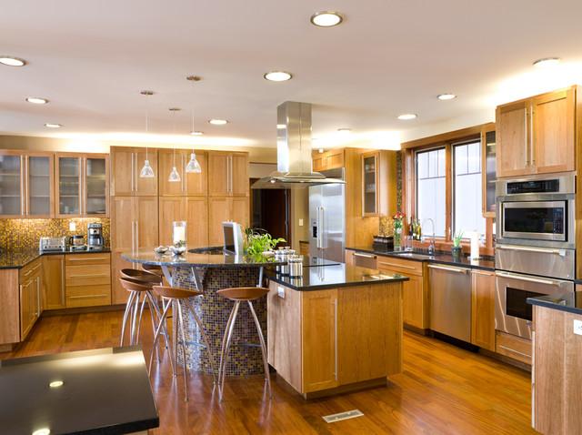 Soft-Modern Green Home - Modern - Kitchen - philadelphia ...