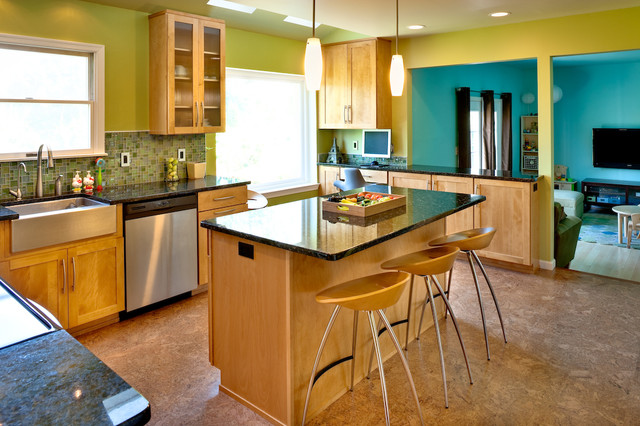 Pale Orange Kitchen cooking with color: when to use green in the kitchen
