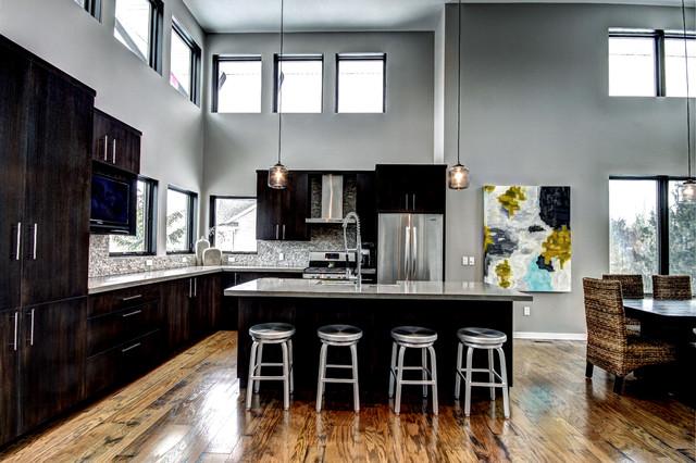 Soft Modern Interior contemporary-kitchen