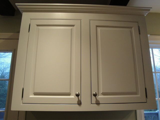Soft White Cabinets with Rub-Through - Traditional - Kitchen - New ...