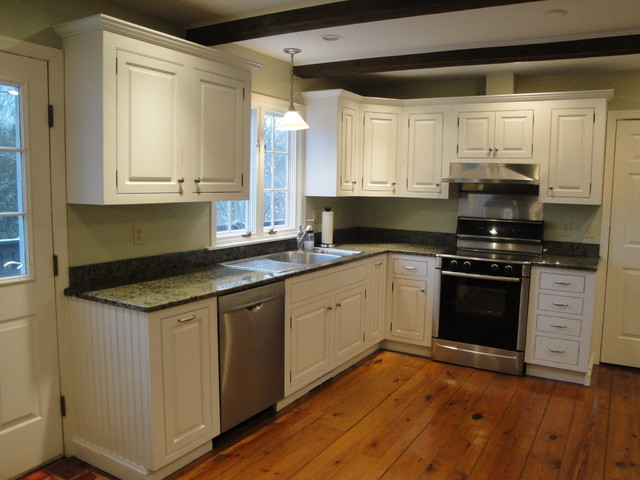 Soft White Cabinets with Rub-Through - Traditional - Kitchen - New York - by Ackley Cabinet, LLC