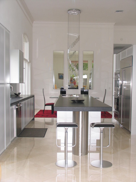 Softness With Metal contemporary-kitchen