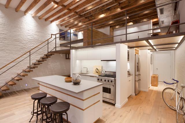 Soho loft industrial kitchen new york by 2nyad design for New york loft kitchen design
