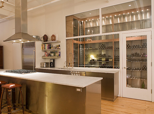 Soho loft new york ny transitional kitchen new york for Loft soho new york