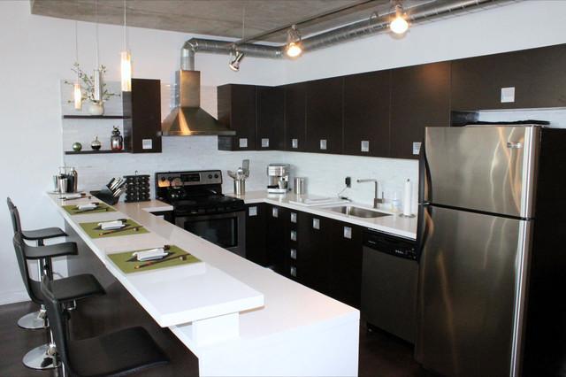 soho style - toy factory lofts toronto, on - modern - küche ... - Küche Toronto