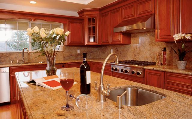 Beautiful Solarius Granite Countertops Traditional Kitchen
