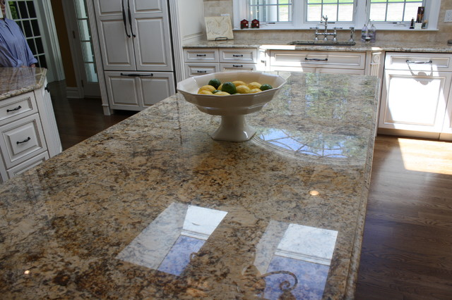 Captivating Solarius Granite Kitchen Countertops Newtown Connecticut Traditional Kitchen