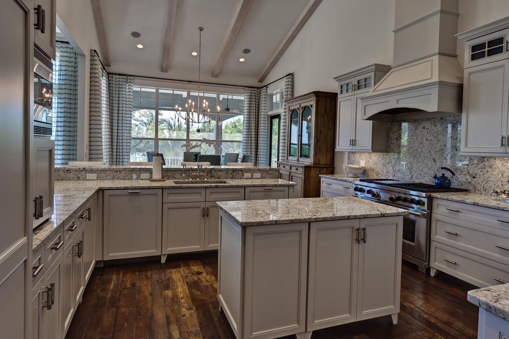 Solid Reclaimed Pine Floor - Beach Style - Kitchen - Miami ...