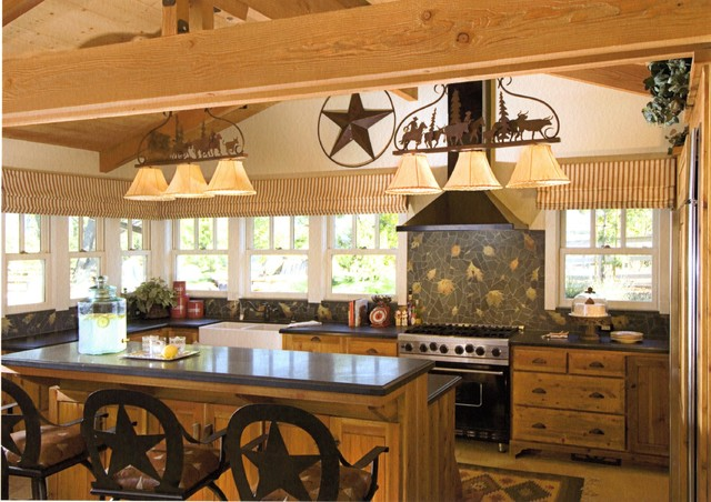 Western rustic kitchen images home design and decor Western kitchen cabinets